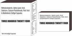 Methylcobalamin Alpha Lipoic Acid Selenium Calcium Pantothenate Folic Acid and Multivitamin Softgel
