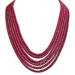Real Ruby Beads stones Ruby stone Ruby Beads Necklaces