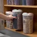 2500mL 4 Grid Cereal & Dry Food Storage Containers-4 Part Jar