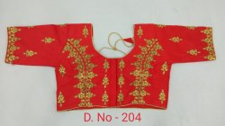 Red Embroidered Blouse