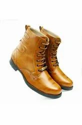 Men Lace Up Brown Leather Shoes