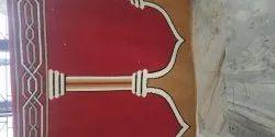 Red, Green Abc Prayer Carpet, Size: 4*100