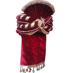 Traditional Wedding Velvet Safa