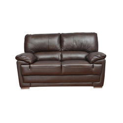 Designer Wooden and Leather Sofa