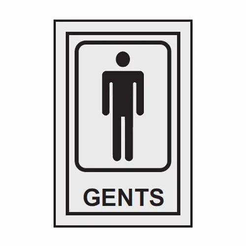 Gents Toilet Sign at Rs 90 /piece | Sadar Bazaar | Delhi ...