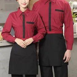Poly Cotton Catering Uniform, Size: S-XXL