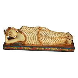 Wooden Sleeping Buddha Statue