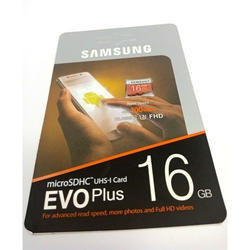 Samsung 16GB Evo Plus Memory Card, , for Mobile Phone