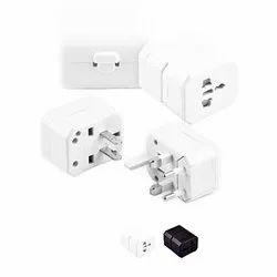 3 White Travel Adaptor