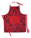 Red And Black Printed Apron