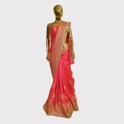 Pink Allover Work Designer Saree