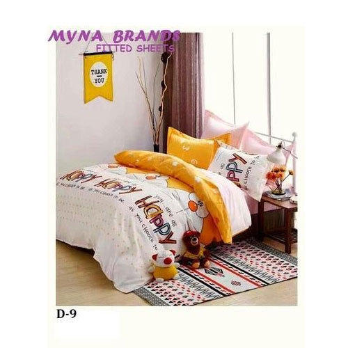 Myna Printed Kids Fitted Bed Sheet