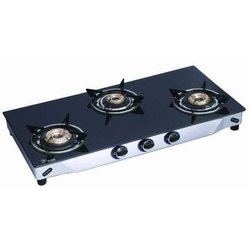Three Burner Glass Top Gas Stoves