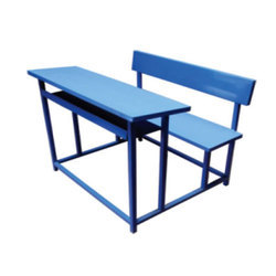 Blue Three Seater Desk