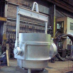 Hot Metal Tilting Gear Ladle 25 Ton