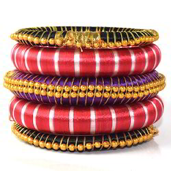Indian Handcraft Traditional Antique Silk Thread Bangles Set