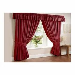 Red Upholstery Swag Curtain