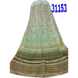 Semi-Stitched Cotton Ladies Wedding Wear Lehenga