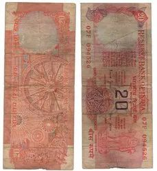 Old 20 Rs Note