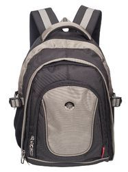 Black & Grey Apollo 15.6 inch Casual Laptop Backpack Bag