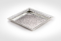 Silver Plated Square Designer Tray