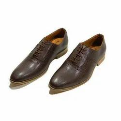 Leather Mens Brown Formal Shoes, Size: 6 To 13