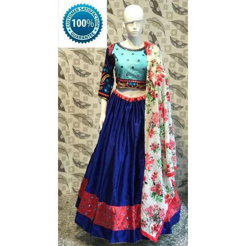 Silk Party Wear Ladies Chaniya Choli, Size: S to XXL