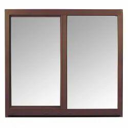 Wooden Finish Aluminium Sliding Window