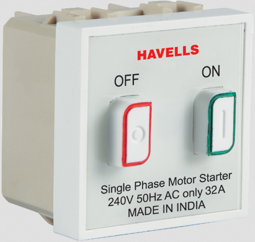 havells 32a motor starter switch, 240 volt and 50 hz ac, rs 393 AC Motor Starter Switch havells 32a motor starter switch, 240 volt and 50 hz ac