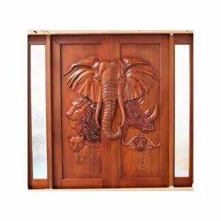 Polished Wooden Carved Wood Doors