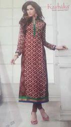 Georgette Printed Georgette Designer Kurti with Inner