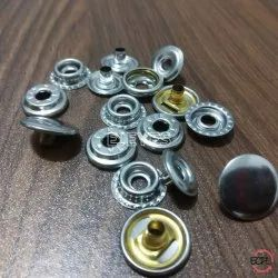 15mm Brass Spring Snap Buttons Nickel, Packaging Type: Polybags packed in box