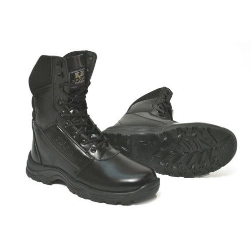 MENS LEATHER NON SAFETY MILITARY SECURITY COMBAT POLICE ARMY WORK BOOTS SHOES UK