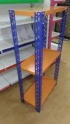 Powder coated. Metal Slotted Angel Racks, Up To 50 Kg., 6 Shelves