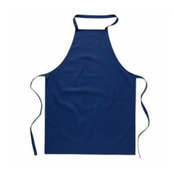 Blue Safety Cotton Apron, Size: Large