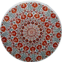 Octagonal Design Marble Inlay Table Top