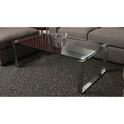 Maxx Furniture 20 - 30 Kg SS & Glass Center Table