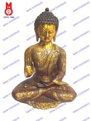 Lord Buddha Sitting Carved B/Hand  Without Base Statues