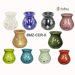 Brahmz Ceramic Aroma Oil Difffuser Candle Holder - 8, For Interior And Exterior Decor