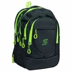 Matty Black Plain School Backpack, For College