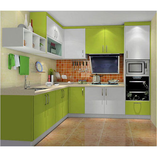 Stainless Steel Modular Kitchen Cabinets: Wooden Lacquer Modular Kitchen, Rs 59000 /unit, Yaxsi