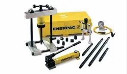 Enerpac Hydraulic Cross Bearing Puller Set with Hand Pump