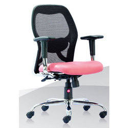 be063bb968a Black and Pink Marco Series Medium Back Office Chair