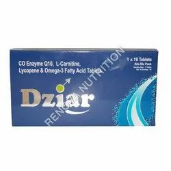 Dziar Male Infertility Lycopene And Omega 3 Fatty Acid Tablets