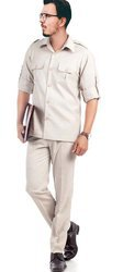Cotton Plain Mens Safari Suit