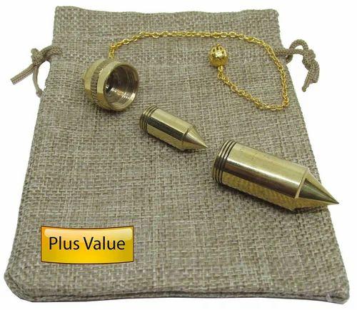 New Double Brass Dowsing Pendulum For Reiki, Dowser, Vastu