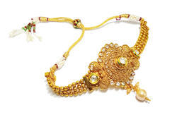 66e2b5d707 Bridal Wear Ethnic One Gram Gold Plated Baju Bandh With Gold Polish For  Women