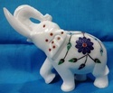 Marble Elephant Statue Inlay Stone Work