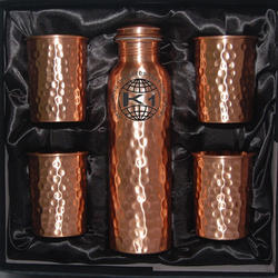 Copper Glass with Copper Bottle In Gift Box