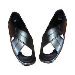 Mens Black Leather Sandal